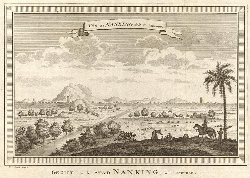 Associate Product 'Vue de Nanking tirée de Nieuhof'. China. View of Nanjing. SCHLEY 1749 print