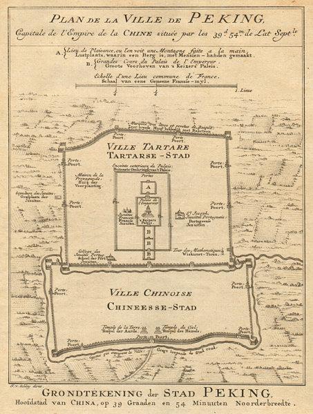 Associate Product 'Plan de la Ville de Peking…'. Beijing city plan. China. BELLIN/SCHLEY 1749 map