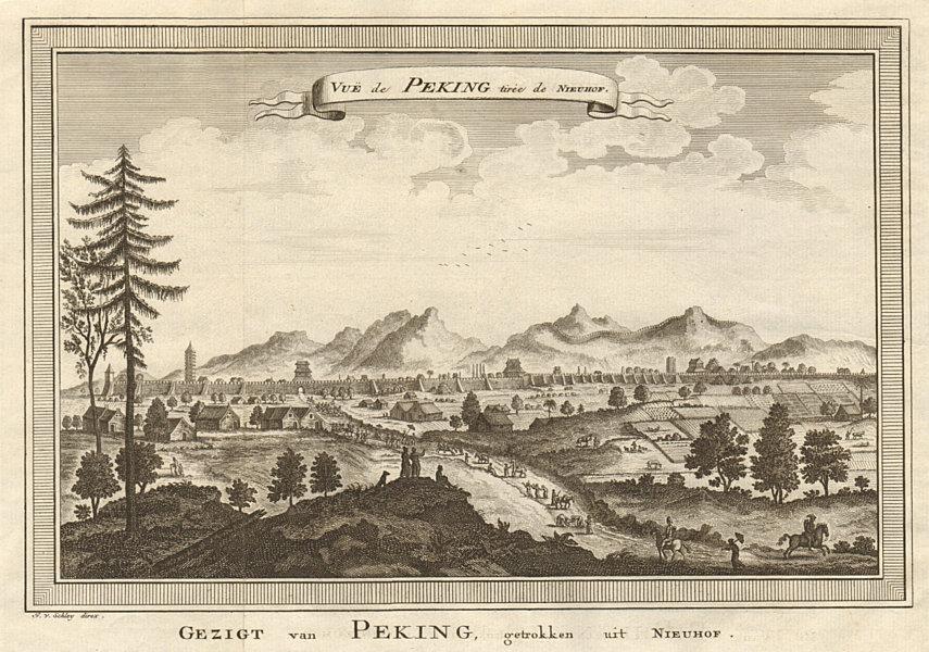 Associate Product 'Vue de Peking'. China. View of Beijing, after Nieuhof. SCHLEY 1749 old print