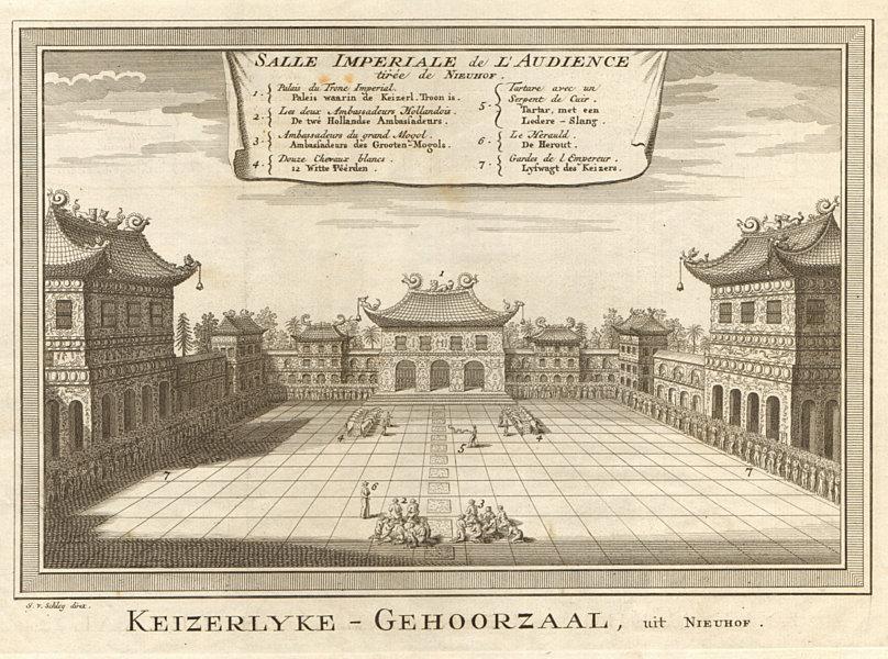 'Salle Impériale de l'Audience'. Nieuhof. Forbidden City, Beijing. SCHLEY 1749