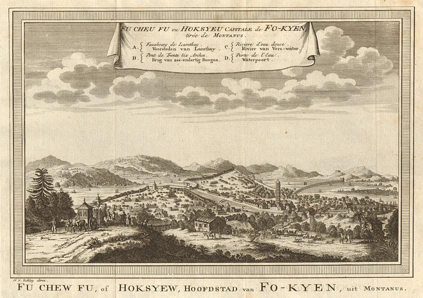 Associate Product 'Fu-Cheu-Fu, ou Hoksyeu; Capitale de Fo-kyen'. Fuzhou Fujian China. SCHLEY 1749
