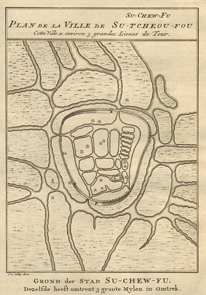 Associate Product 'Su-Chew-Fu'. Su-Tcheou-Fu. Suzhou city plan, China. BELLIN/SCHLEY 1749 map