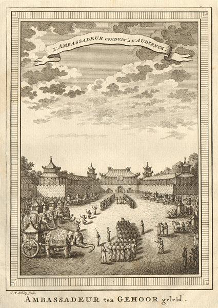 Associate Product 'L'Ambassadeur conduit à l'audience'. Ambassador Montanus Beijing. SCHLEY 1749