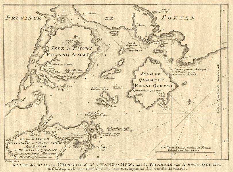Associate Product 'Carte de la Baye de Chin-chew' Zhangzhou & Xiamen, China BELLIN/SCHLEY 1749 map