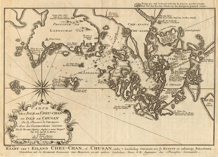 Associate Product 'L'lsle de Cheu-Chan'. Ningbo & Zhoushan island, China. BELLIN/SCHLEY 1749 map