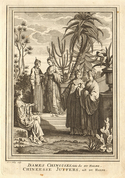 Associate Product 'Dames Chinoises'. China. Chinese ladies. SCHLEY 1749 old antique print