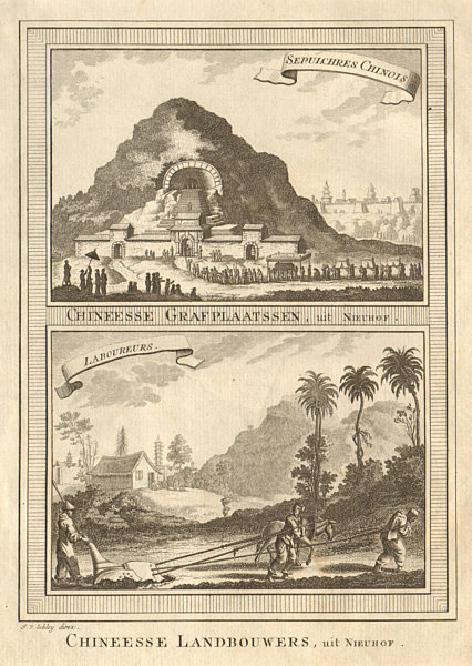 Associate Product 'Sépulchres Chinois; Laboureurs'. Chinese sepulchres labourers China SCHLEY 1749