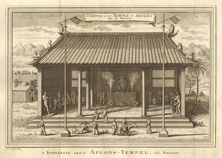 Associate Product 'Intérieur d'un Temple d'ldoles'. China. Temple of idols. SCHLEY 1749 print
