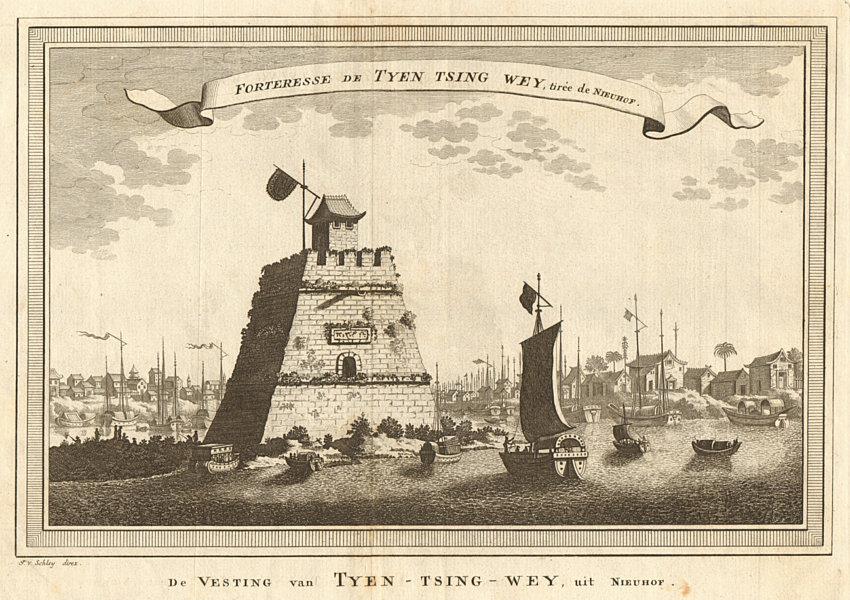 Associate Product 'Forteresse de Tyen-tsing-wey'. China. The fortress of Tianjin. SCHLEY 1749