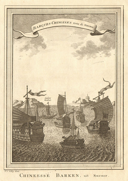 Associate Product 'Barques Chinoises'. China. Chinese junks or boats. SCHLEY 1749 old print
