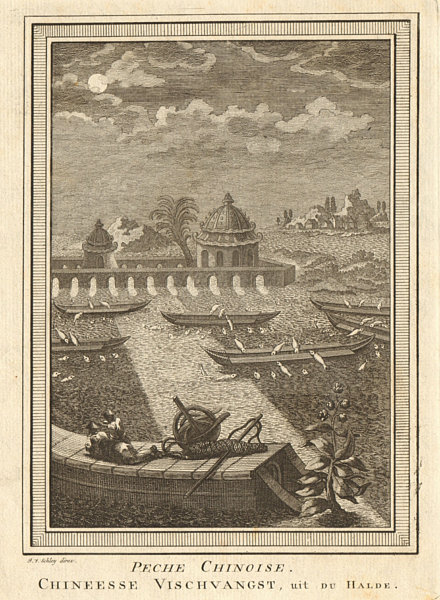 Associate Product 'Pêche Chinoise'. China. Chinese fishing methods. Varnished boats. SCHLEY 1749