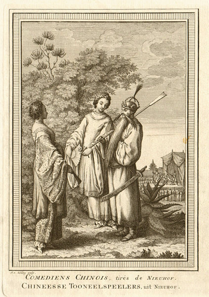 Associate Product 'Comédiens Chinois'. China. Chinese comedians or actors. SCHLEY 1749 old print