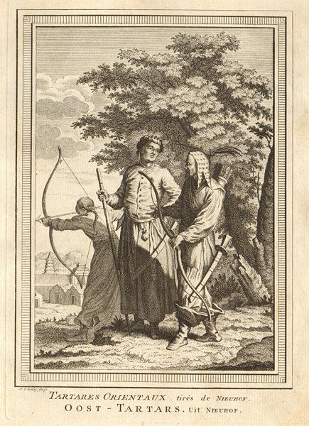 Associate Product 'Tartares Orientaux tirés de Nieuhof'. China Tatar. Archery. SCHLEY 1749 print