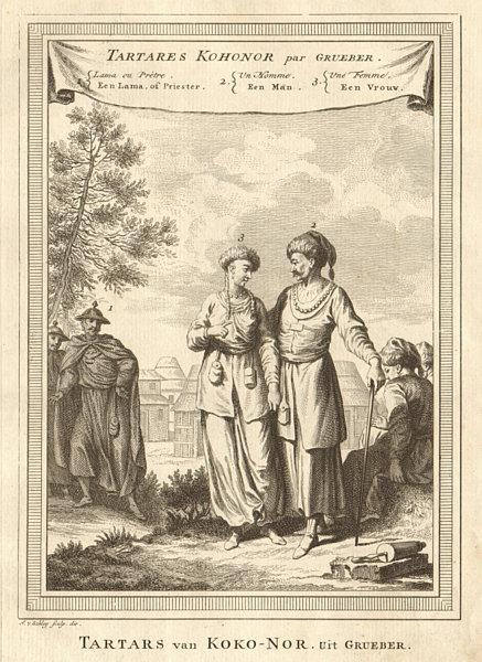 Associate Product 'Tartares Kohonor'. China Kokonor Qinghai) Tatars Lama. Grueber. SCHLEY 1749