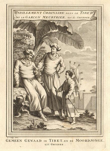 Associate Product 'Habillement ordinaire dans le Tibet'. Dress Murderous boy Grueber. SCHLEY 1749