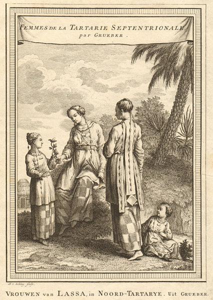 Associate Product 'Femmes de la Tartarie Septentrionale'. Tibetan women. Tartary. SCHLEY 1749