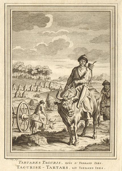 Associate Product 'Tartares Taguris'. Qiqihar people Heilongjiang China. Isbrand Ides. SCHLEY 1749