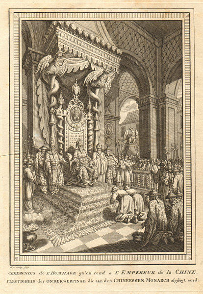 Associate Product 'Cérémonies de l'Hommage'. Homage to the Emperor of China. SCHLEY 1749 print