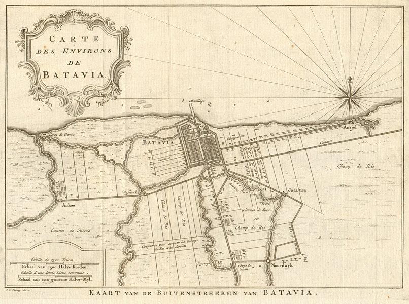 Associate Product 'Carte des Environs de Batavia'. Jakarta, Indonesia. BELLIN/SCHLEY 1753 map