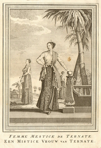 Associate Product 'Femme Mestice de Ternate'. Mestizo woman, Ternate, Maluku islands. SCHLEY 1755