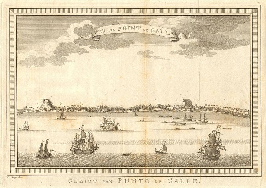 'Vue de Point-de-Galle'. View of Galle, Sri Lanka. Ceylon. SCHLEY 1755 print
