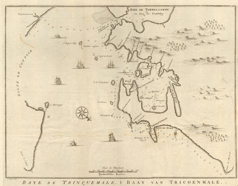 Associate Product 'Carte de la Baye de Trinquemale'. Trincomalee Sri Lanka. BELLIN/SCHLEY 1755 map