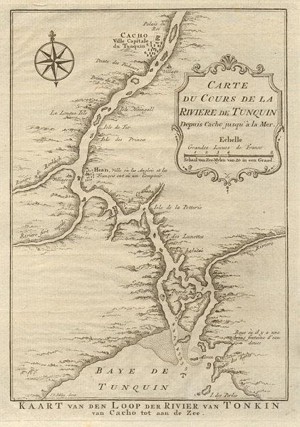 Associate Product 'La Rivière de Tonquin…'. Red River, Vietnam. Hanoi. BELLIN/SCHLEY 1755 map