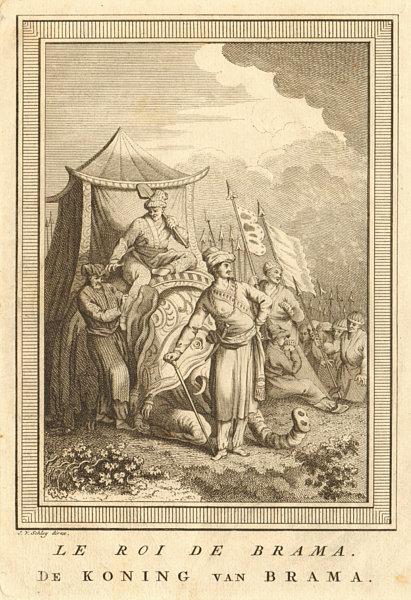 Associate Product 'Le Roi de Brama'. Probably Alaungpaya, King of Burma. SCHLEY 1755 old print