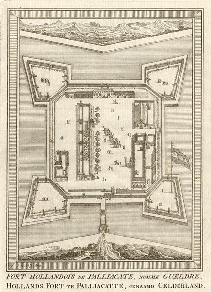 Associate Product 'Fort Hollandois de Palliacate… Gueldre'. Geldria Pulicat BELLIN/SCHLEY 1755 map