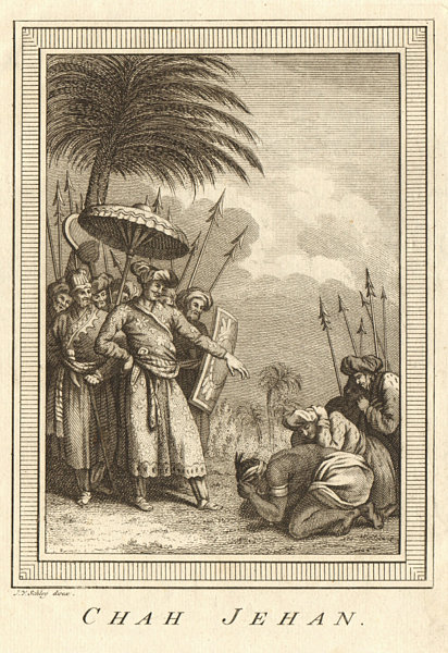 Associate Product 'Chah Jehan'. India. Shah Jahan, 5th Mughal Emperor. SCHLEY 1755 old print