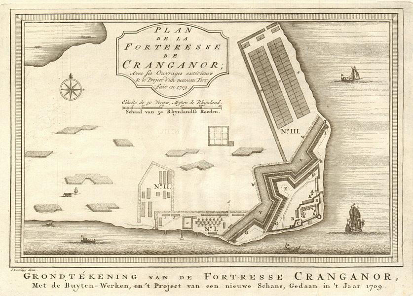 Associate Product 'La Forteresse de Cranganor'. Kodungallur Fortress Kerala BELLIN/SCHLEY 1755 map