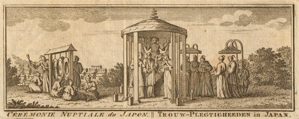 Associate Product 'Cérémonie nuptiale du Japon'. Japan. Japanese wedding ceremony. SCHLEY 1756