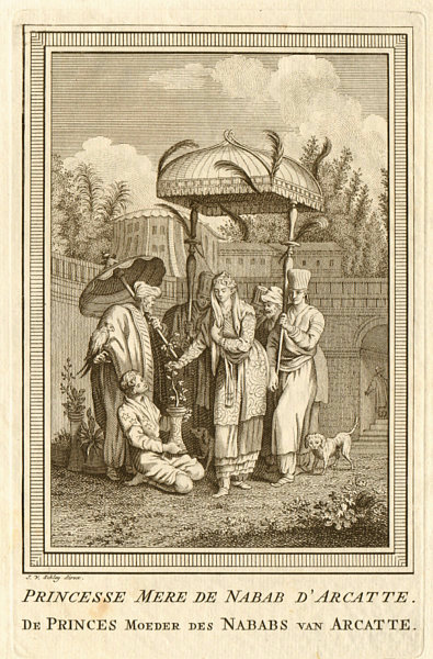 Associate Product Princess Mother of the Nawab of Arcot or Carnatic. India. SCHLEY 1756 print