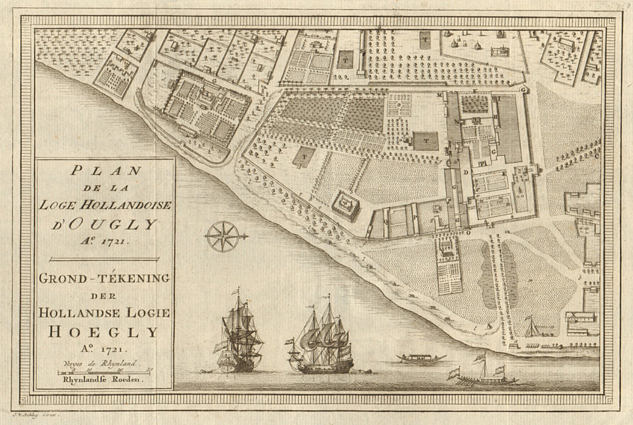 Associate Product 'Plan de la Loge Hollandoise d'Ougly'. Hooghly-Chinsurah. BELLIN/SCHLEY 1756 map