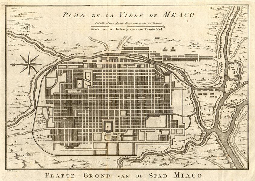 Town city 'Plan de la Ville de Meaco' (Kyoto). Japan. BELLIN / SCHLEY 1756 map