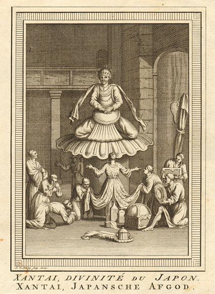 Associate Product 'Xantai, Divinité du Japon'. Oda Nobunaga, a Japanese deity. SCHLEY 1756 print