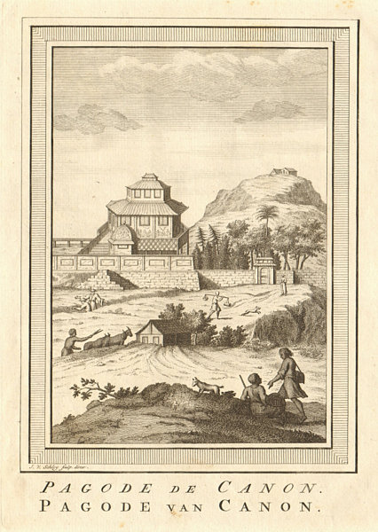 Associate Product 'Pagode de Canon' Pagoda of Kannon Japan Guanyin Kanzeon Bodhisattva SCHLEY 1756