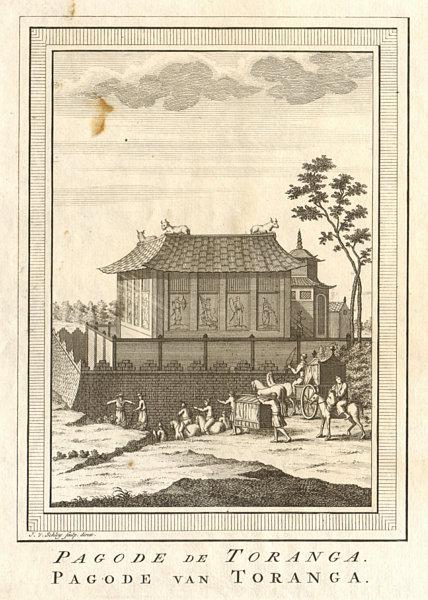 Associate Product 'Pagode de Toranga'. Japan. Pagoda of Toranga. SCHLEY 1756 old antique print