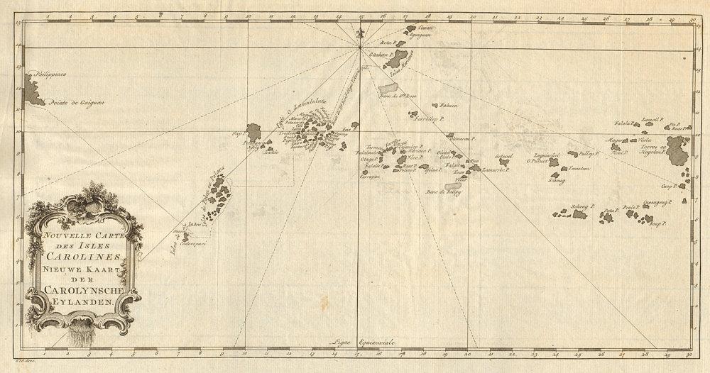 Associate Product 'Nouvelle Carte des Isles Carolines' Islands. Micronesia. BELLIN/SCHLEY 1757 map