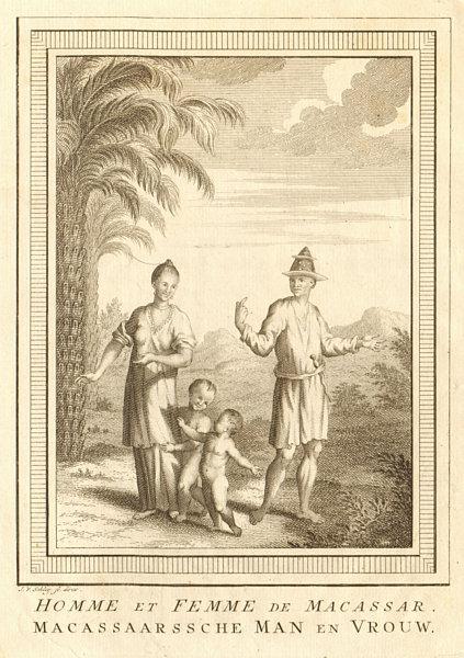 Associate Product 'Homme & Femme de Macassar'. Sulawesi. Man & woman of Makassar. SCHLEY 1757