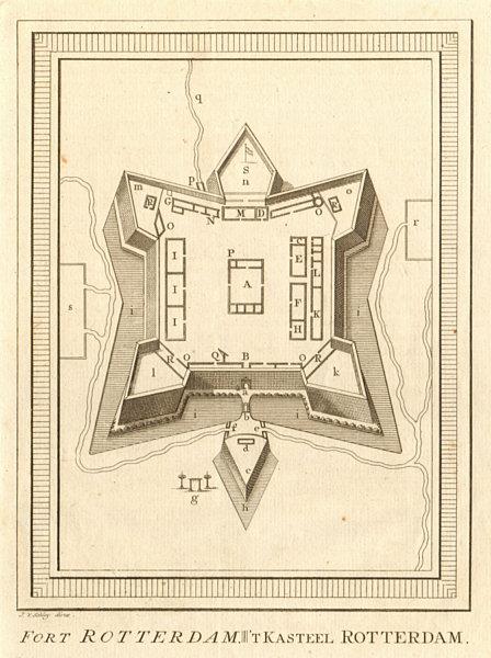Associate Product 'Fort Rotterdam', Makassar Sulawesi. Dutch East Indies. BELLIN / SCHLEY 1757 map