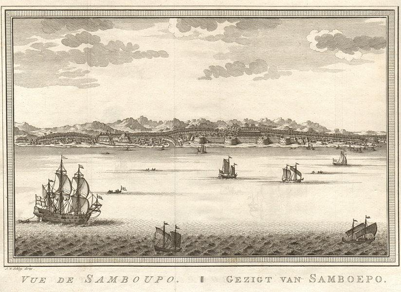 Associate Product 'Vue de Samboupo'. View of Makassar, Sulawesi, Indonesia. Celebes. SCHLEY 1757