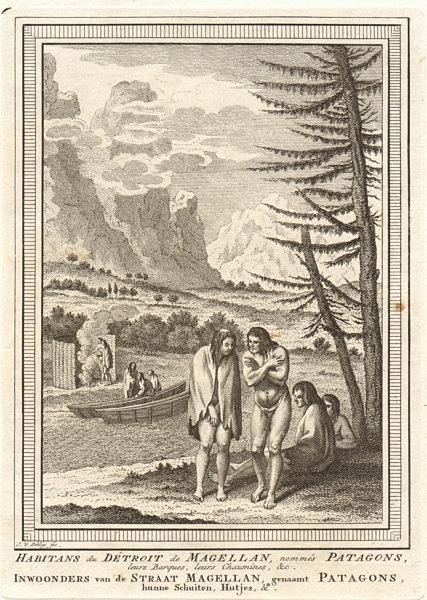 Associate Product 'Habitans du Détroit de Magellan'. Magellan Strait Patagonians. SCHLEY 1757