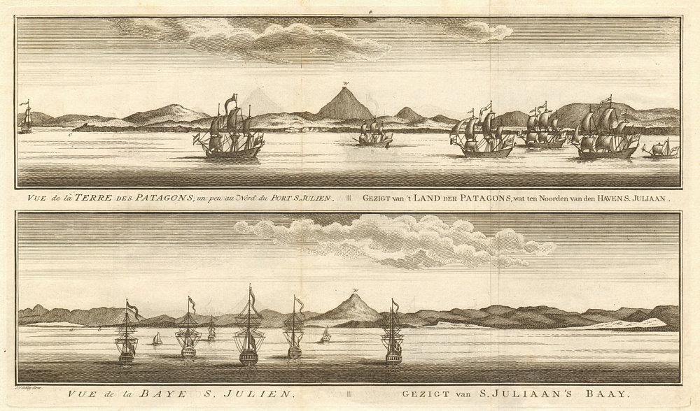 Associate Product Patagonia coast profile. Puerto San Julian bay. Argentina. SCHLEY 1757 print