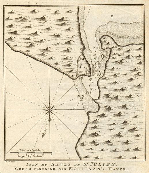 Associate Product 'Plan du havre de St. Julien' Puerto San Julian Argentina BELLIN/SCHLEY 1757 map