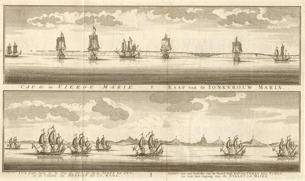 Associate Product Argentina coast profile. Cabo Virgenes. Tierra del Fuego. Le Maire. SCHLEY 1757