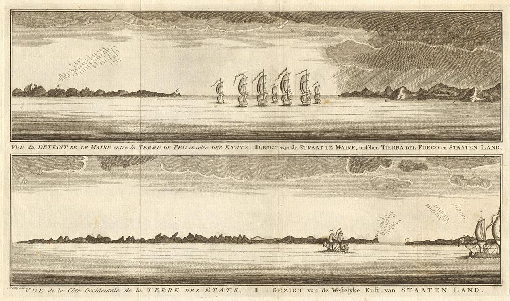 Associate Product Argentina coast profile. Le Maire Strait. Tierra del Fuego. Estados. SCHLEY 1757