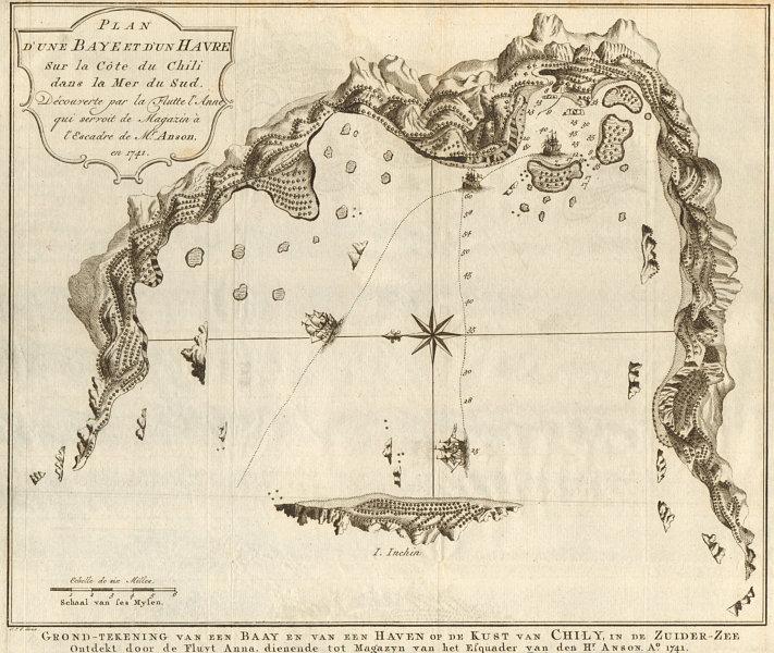 Associate Product 'Baye… sur la côte du Chili'. Inchin island Chonos Chile BELLIN/SCHLEY 1757 map