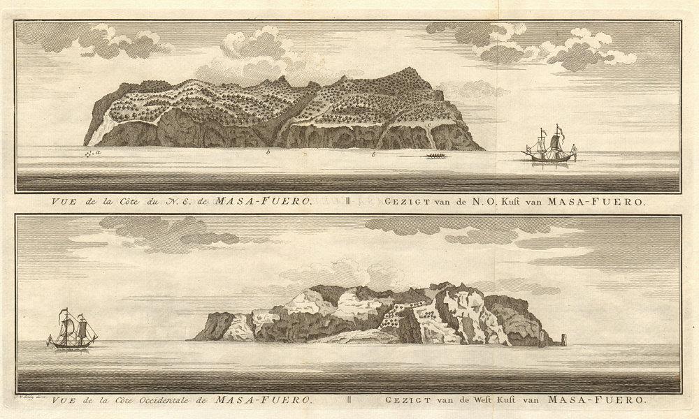 Associate Product Alejandro Selkirk Island profile, Juan Fernandez, Chile. Mas Afuera. SCHLEY 1757
