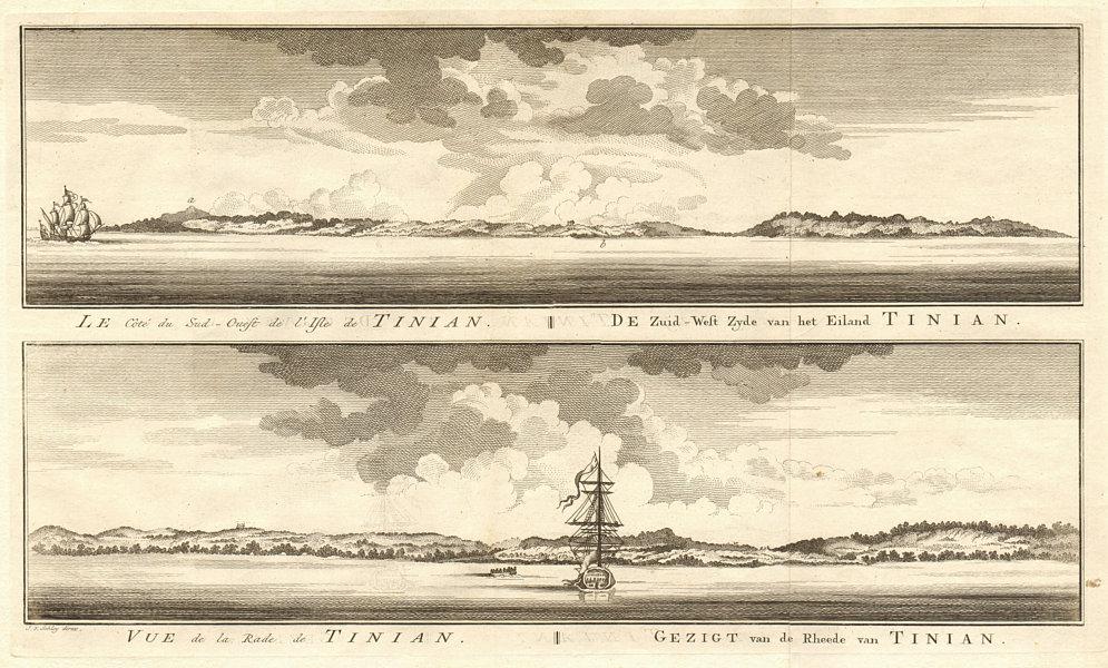 Micronesia. Coast profiles of Tinian, Northern Mariana Islands. SCHLEY 1757